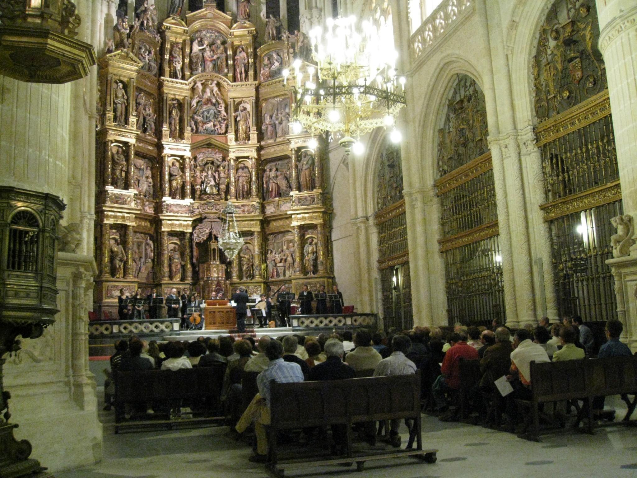 Concierto en la Catedral de Burgos, 18 de septiembre de 2008